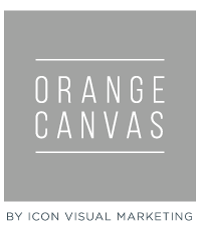 orange canvas grey